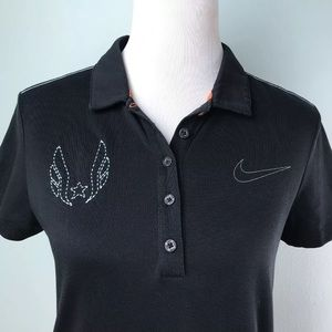 Nike Golf Sport Black dri fit polo shirt Sz M